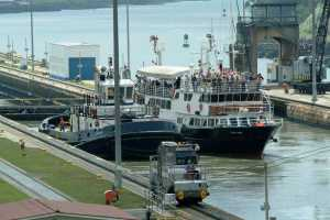 The Pacific Queen in the Panama Canal Locks