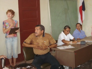 Mayor of Taboga and Taboga Expat at Health Center Donation Ceremony