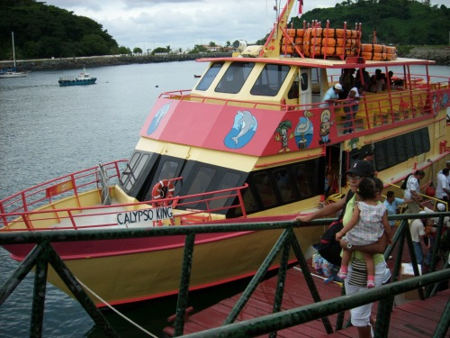 Calypso King Ferry to the Taboga Island Beach for Vacationers in Panama
