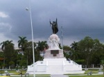 Balboa Statue on Cinta Costera Parkway in Panama City, Panama